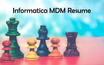 Informatica MDM resumes